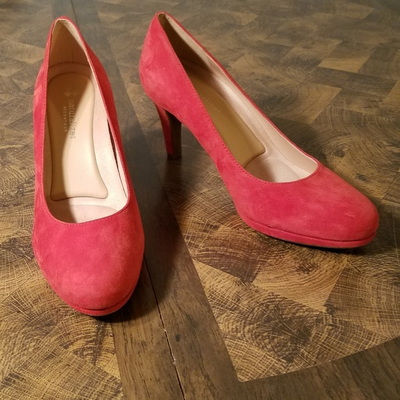 830db2e0ef9 ... Naturalizer Michelle Red Suede Heels. M 5b444cd4e944bad9e053106d